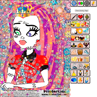 Monster High Online Coloring Frankie Stein Demo 7