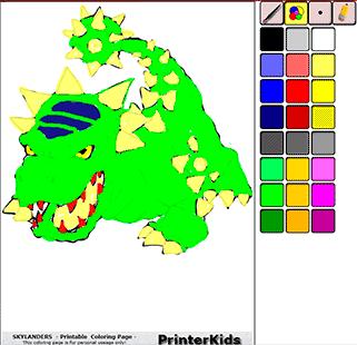 Skylanders Online Coloring Bash Demo 1