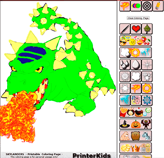 Skylanders Online Coloring Bash Demo 2