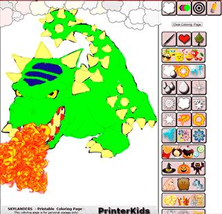 Skylanders Online Coloring Bash Demo 3