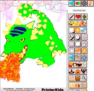 Skylanders Online Coloring Bash Demo 4