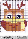Owl #41 - Animal - Reindeer - animal pattern