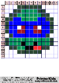 TMNT Super Simple Chibi Face #4 - tmnt pattern