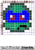 TMNT Super Simple Chibi Face #2 - tmnt pattern