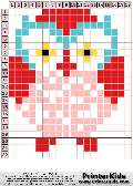 Owl #81 - Simple Animals - owl pattern