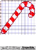 Christmas - Large Candy Cane - christmas pattern
