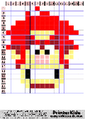 Wreck It Ralph - Simple Face of Ralph - wreck pattern