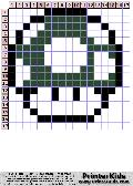 Super Mario Brothers - 1 Up - mario pattern