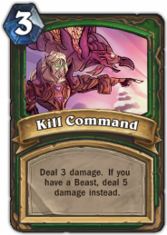 Kill Command, a Hunter class spell card with Beast related bonus