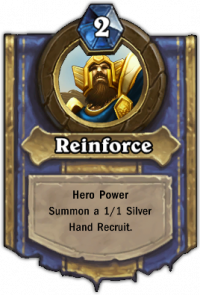 Paladin Hero Ability: Reinforce