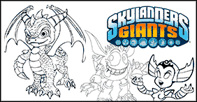 Skylanders and Skylanders Giants Coloring Pages