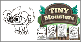 Tiny Monsters Coloring Pages