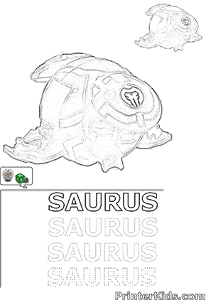 Draw Saurus Bakugan Ball