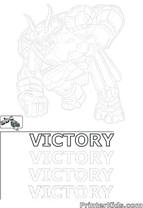 Print and Draw Saurus Bakugan VICTORY
