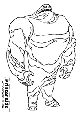 Clayface - Batman coloring page