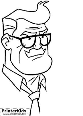 Commissioner Gordons Face - Batman coloring page