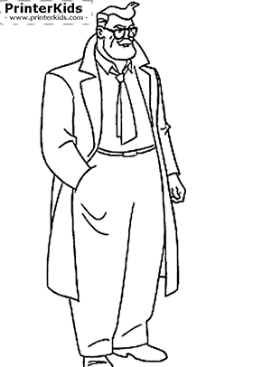 Commissioner Gordon - Batman coloring page