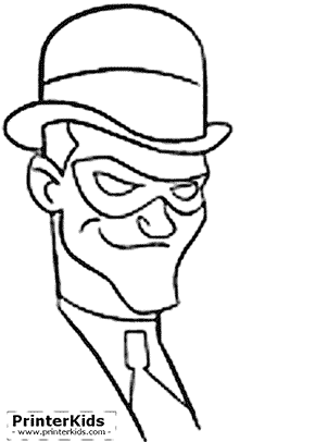 Riddlers Face - Batman coloring page