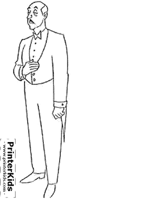 Alfred (The Butler /  Valet ) Pennyworth - Batman coloring page