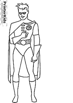 Robin - Batman coloring page