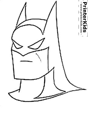 The Batman (Head / Mask) - Batman coloring page