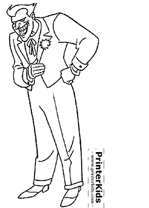 The Joker Laughing - Batman coloring page