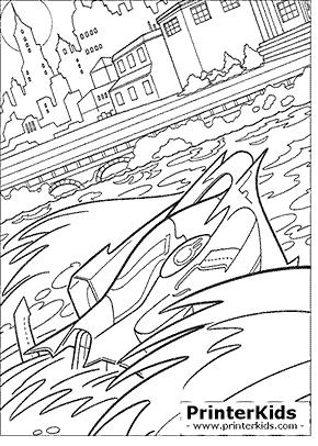 Batboat - Batman coloring page