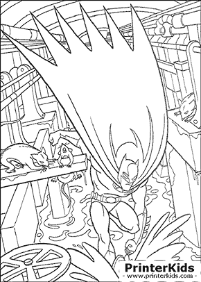 Sewer Punch - Batman coloring page