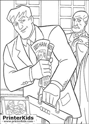 Bruce Wayne and Alfred - Batman coloring page