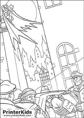 A Job Well Done - Batman coloring page