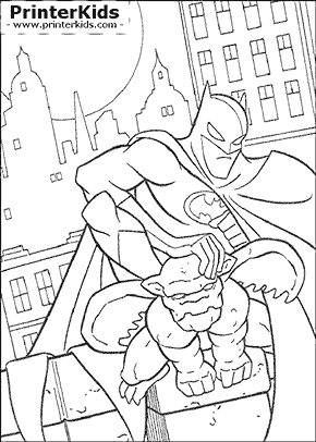 Gargoyle Companion - Batman coloring page
