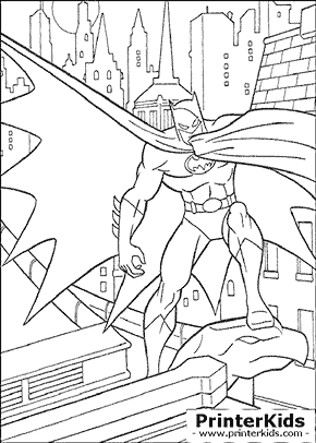 Gargoyle Stand - Batman coloring page