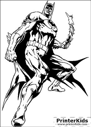Batmorang Attack - Batman coloring page
