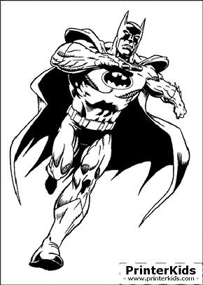Bat-run - Batman coloring page