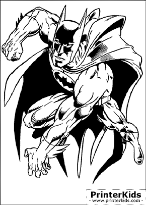 Power Jump - Batman coloring page