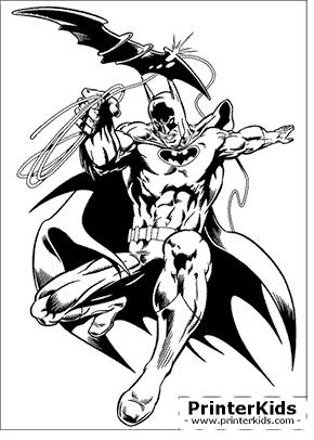 Batmorang Grappling Hook - Batman coloring page