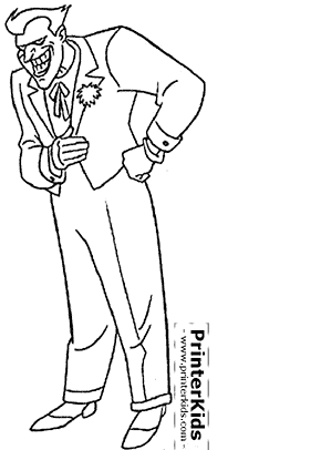 Joker - Batman coloring page
