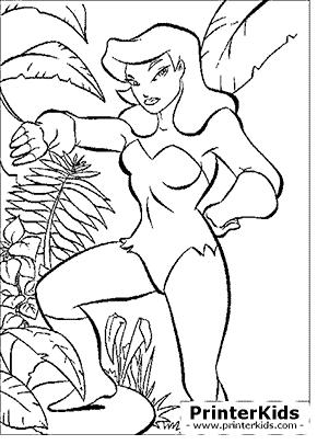 Poison Ivy - Batman coloring page