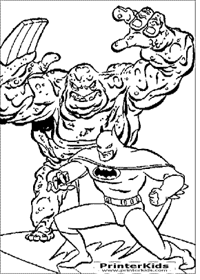Clayface Sneak Attack - Batman coloring page