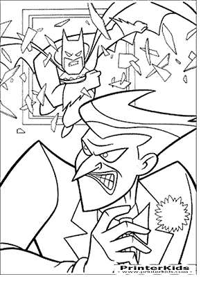 Use The Door - Batman coloring page