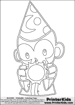 Bloons TD5 - Monkey Apprentice #1 - Coloring Page