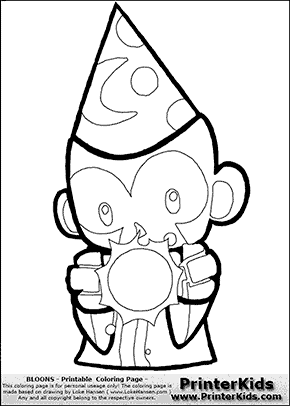 Bloons TD5 - Monkey Apprentice #2 - Coloring Page