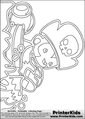 Bloons TD5 - Monkey Buccaneer #3 - Coloring Page