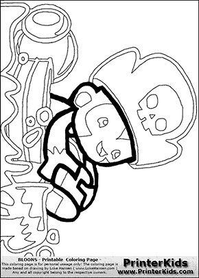 Bloons TD5 - Monkey Buccaneer #4 - Coloring Page