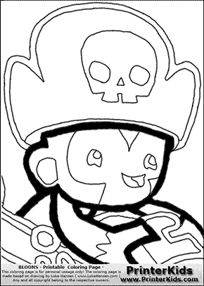 Bloons TD5 - Monkey Buccaneer #6 - Coloring Page