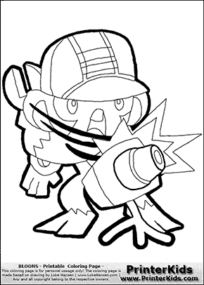 Bloons TD5 - Monkey Engineer #4 - Coloring Page