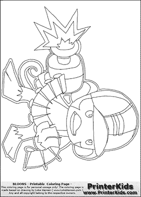Bloons TD5 - Monkey Engineer #5 - Coloring Page