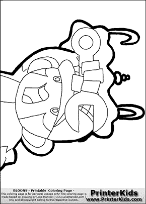 Bloons TD5 - Monkey Engineer #8 - Coloring Page