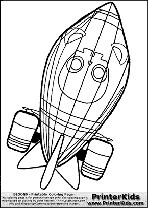 Bloons TD5 - ZOMG #1 - Coloring Page