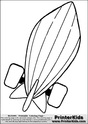 Bloons TD5 - ZOMG #5 - Coloring Page